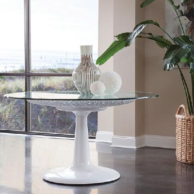2074-870-56C Seascape玻璃桌面圆形餐桌